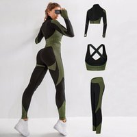 Yoga Outfit Two Piece Set Women Women's Knitting Sports Jacket Pants Conjuntos De Mujer Ensemble Femme
