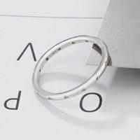 Anillo de banda CZ de la boda del compromiso de alta calidad 100% Real Pure 925 Sterling Silver para las mujeres Regalo 383 T2