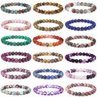 Chakra Charm Men 8mm Natural Stone Tiger Eye Malachiet Lapis Lazuli Healing Kralen Bracelet Women Yoga Jewelry