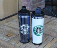 Mugs Starbucks Tasse à double murs en acier inoxydable Tasse flexible / tasse à café / tasse / mugs itinéraires / tasses à thé / tasses à vin 4 couleurs {4KXG aléatoire