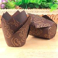 50 stücke Tulpe Muffin Cupcake Paper Becher Öldicht Cupcake Liner Backen Muffin Box Tasse Fall Kuchen Dekorieren Werkzeug Muffin Wrap Fälle
