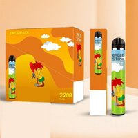 100% Original Factory E cigarette Disposable Vape Pen 5% 2200 puffs BREZE STIIK Mega 8 Colors Electranic Cig Wholesale Bulk Price