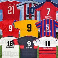 1995-96 Retro Scholl Soccer Jersey 91 92 93 95 96 97 98 99 2000 01 Matthaus Klinsmann Pizarro Elber Affenberg القميص القديم