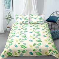 Bedding Plant Flower Duvet Cover With Pillowcases Single Twin Double Full Queen King Size