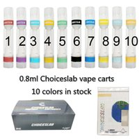 0.8ml Cartridges Full Ceramic Carts Choiceslabs Vape Cartridge Atomizers Empty Delta 8 Cart Vapes Round Tip Package Thick Oil Vaporizer E Cigarettes