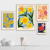Paintings Abstract Fruit Orange Leaf Vintage Flower Wall Art Canvas Painting Nordic Posters And Prints Pictures For Living Room Decor