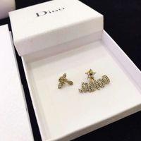 Роскошные гвоздики женщины серьги серьги бренды жемчуга сердца буквы уха мужские серьги золотые серебряные украшения аксессуары хорошего качества модный подарок для девушек в коробке