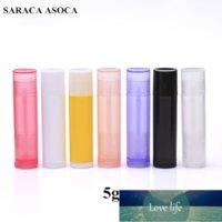 All'ingrosso 160pcs / lot 5g bottiglie di plastica del rossetto di plastica 5m bottiglie ricaricabili 5ml Tubo del balsamo del labbro vuoto per imballaggio cosmetico