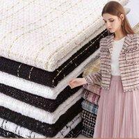 Woolen Lady Style Faser Plaid gewebt Tweed Stoff DIY Mantel Kleidung Kleid Handmade Nähen Quilten Herbst Winter