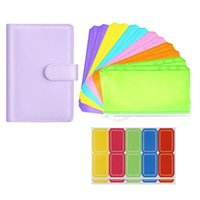 Gift Wrap 15Pcs A6 PU Leather Notebook Binder Cover Refillable Plan Journal With Zipper Bag For Budget System Scrapbooking