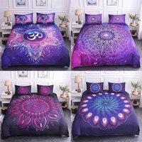 Постельные принадлежности Boniu Mandala напечатанные одеяльные наборы для одежды наборы набор односмысленных 3d перья шаблон королевы короля домашнего текстиля Богемия постель