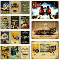 Zurück zum Zukunft Metall Poster Auto Filme Kunst Malerei Print Vintage Blechschilder Klassische Filmwand Bilder Zimmer Wohnkultur YL001 Q0723