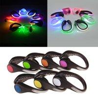 Bike Lights Outdoor LED Luminous Shoe Night Clip Light Warning Bright Flash Running Cycling Lighting Warn Lamp Kids Toys