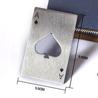 Cartão de jogo de poker elegante ACE de espadas abridores barra de barras de aço inoxidável de aço inoxidável Garrafa de cerveja abrange DHE5935