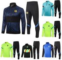 2021 Inter Milan Futbol Formaları Setleri Eşofman Spor Jersey 20 21 Eğitim Üniforma Polo Gömlek Eşofman Pantolon Uzun Kollu