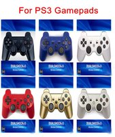 Wireless Bluetooth Gamepad Joystick Controller Game Console Accessory USB Handle Gamepads Without LOGO For PS3 PC Dualshock 3 With Retail Box