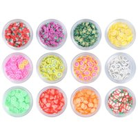 Nail Gel 1 Set Slice Fruit Clay Making Supply Art Series 12 Kinds Of Boxed Slices DIY Decoration(Fruit)