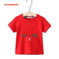 2021 Yaz Kısa Kollu Çocuklar T-shirt Tasarımcı Bebek Giysileri Erkek Kız İnce Yuvarlak Boyun Pamuk Tops 2-7 Yıl