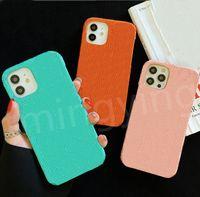 Cajas para teléfono de diseñador para iPhone 12 Mini 11 Pro MAX XS XR X 7 8 PLUS LUJO CUBRE DE CUBIERTA DE MODA EN RELAJADO DE LUJO CASO CELULAR