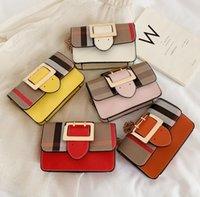 Koreanische Designer Luxurys Mädchen Echtes Leder Handtaschen Nette Streifen Tragbare Einzelner Schulterkette Tasche Mode Crossbody Mini Messenger Bags