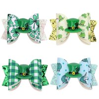 Baby Hair Clips Barrettes Leather Ribbon Bow Childrens Hairpin Clip Girls Large Bowknot Barrette Kids Boutique Bows Fashion Jewelry For Christmas Gift