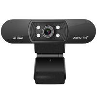 ASHU H800 Full HD видео Webcam 1080P HD камера USB веб-камера фокусировки ночного видения компьютерная веб-камера со встроенным микрофоном
