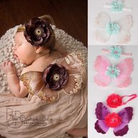 Butterfly Sequins Newborn Photography Props Fashion Diamond Baby Girl Hairband Angel Wing Flower Fly Accessories Bebe Headband 210413