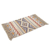 Carpets Cotton And Linen Boho Carpet Mat Home Bedroom Bedside Tassel Blanket Floor Door DC120