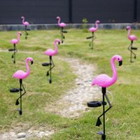 LED Solar Flamingo Garden Light Simulated Lawn Lamp Waterproof Solars Leds Lights Outdoor For Gardens Patio Decoration Lighting