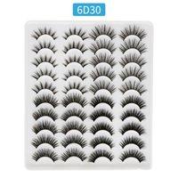 20 Pairs False Eyelashes Natural Soft Cross Thick Eye lashes Multi-layer faux Mink Fake Eyelash Female Makeup Tools J053