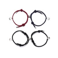 Link, Chain Gift Jewelry Distance Bracelet Rope Alloy Lover Friendship Attract Couples Bracelets Braided