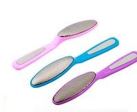 2021 Grinding Foot Care Esofoliante pennello Beauty Shel-Sided Piedi Pedicure Calluss Rimozione del file del piede per i talloni Strumenti per la cura del piede