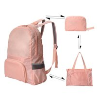 Dual Purpose Foldable Backpack 2021 Travel Bag Skin Bags Outdoor Sports Anti Splash Packs Walking Light Backpacks Students Schoolbag