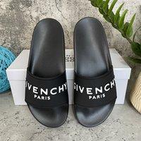 [С коробкой] 2021 высочайшее качество мужские женские тапочки сандалии обувь скользящая летняя мода широкий плоский флип флоп размер EUR 36-46