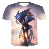 2020 Ropa de verano Sonic Hedgehog T Shirt Blue 3D Impreso Girls Streetwear Niños Ropa Niños Bebé Tshirt O-Cuello