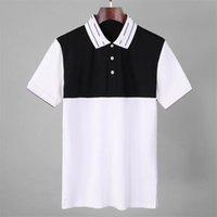 2021 티 남성용 폴로스 브랜드 디자인 셔츠 여름 거리 착용 유럽 패션 남자 고품질 코튼 티셔츠 캐주얼 짧은 소매 # 665