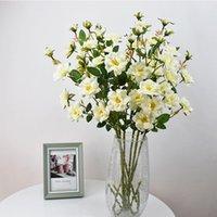 Dekoratif Çiçekler Çelenk 7 Kafaları Buzdağı Gül Yapay Çiçek Tek 72 cm, Düğün Seti Çekim için Uygun, Ev Yemek Masası Kabin
