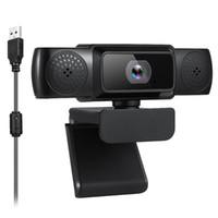 웹캠 USB 드라이브없는 웹 카메라 1080P 고정 초점 웹캠 내장 온라인 회의 비디오 채팅을위한 소음 감소 마이크