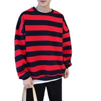 Mens Designer t shirts Men Striped Sweatshirts 2021 Spring Autumn Fashion s Hoodies Male Loose Couple Outfit Brand Hip Hop Hoodie