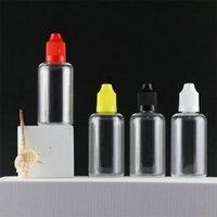 Vacío E Liquid Plastic Dropper Bottle 50ml con tapa de prueba de niños Botellas de eje de punta fina larga