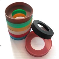 Drinkware Handle Bottle Bumpers 65mm 70mm Protective Cup Mat Silicone Coasters For 30oz 20oz Vacuum Tumbler Travel Mug Water DWD8806