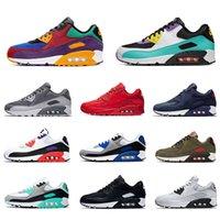 Nike Air max 90 Running shoes For Men shoes الرجال أحذية رياضية كلاسيكي 90 الاحذية للنساء مدرب الرياضة شبكة جلدية مصمم وسادة سطح تنفس 36-45 يورو