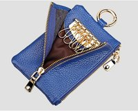 Genuine Leather Wallet Key Case Coin Purse Multifunction Holders Leisure Keychain Money Bag Backpack