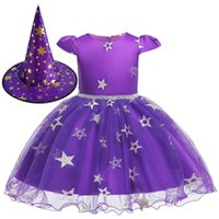 Girls Witch Halloween Christmas Toddler Kids Tutu Dresses Baby Children Clothing Princess Dress Party Costume Clothes 1 2 4 6 8Y G0925