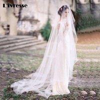 Bridal Veils Wholesale Soft Tulle Cut Edge Brautschleier 3 Meter For Bride White Ivory Hu Da Beauty Wedding Veil
