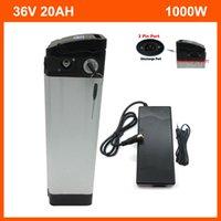 Перезаряжаемые 1000 Вт 36 В 20ah Li-Ion Electric Bike Silver Fish Battery 10ah 15Ah 18ah с тонким алюминиевым корпусом BMS 42V 2A зарядное устройство