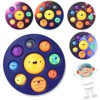 Otto pianeti semplici Dimple Fidget Sensory Toy Carino Stress Sollier AntiTistress Board Autism Ansia Fidget Giocattolo per bambini
