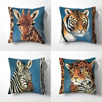Cushion Decorative Pillow Tiger Leopard Zebra Throw Pillows Softness Cover Cushion Decorative Cushions For Sofa Living Room Home Decoration