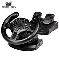 데이터 개구리 경주 게임 패드 180도 스티어링 휠 진동 조이스틱 PS3 게임 원격 컨트롤러 바퀴 드라이브