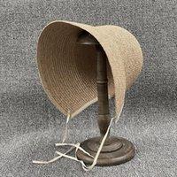 202104-Dudu نمط الريفي الفرنسية اليدوية الرافية العشب سيدة الشمس كاب المرأة الترفيه قبعة واسعة بريم القبعات